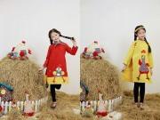 Mẫu nhí nổi tiếng Hà thành đẹp ngọt ngào trong tà áo dài trẻ em