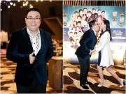 Làng sao - Vợ chồng Gia Bảo hôn nhau nhắng nhít trước các khách mời trong sự kiện