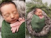 Bà bầu - Ngạc nhiên với khả năng uốn dẻo chân giơ tận má của em bé vừa lọt lòng mẹ