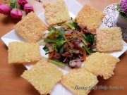 Bếp Eva - Xôi chiên giòn tan ăn với thịt bò xào còn gì ngon bằng