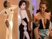 """Thời trang - Sao Việt tra tấn thị giác người hâm mộ với những chiếc váy """"hở ngược hở xuôi"""""""