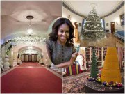 Nhà đẹp - Choáng váng khi nhìn không gian Giáng sinh Nhà Trắng do đệ nhất phu nhân Obama trang trí