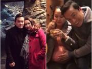 Hậu kỷ niệm 3 năm ngày cưới, Lam Trường livestream khoe bụng bầu 8 tháng của vợ