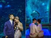 Đám cưới đẹp như cổ tích ở Thủy cung lớn nhất thế giới của cô dâu Việt