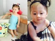 Làm mẹ - Con gái Trang Trần mặt đẹp hệt bố, chân dài như mẹ
