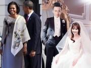 Thời trang - Ảnh vợ TT Obama mặc áo dài Việt xứng đáng là ảnh ghép thời trang hot nhất 2016