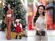 Sao Việt - Người đẹp Hoa hậu Hoàn vũ xuống phố vui Giáng sinh cùng các em nhỏ