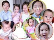 """Làng sao - 4 con của Lý Hải - Minh Hà mặt ngoang nguếch bánh kem siêu """"cute"""""""