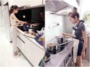 Nhà đẹp - Góc bếp của 3 cô nàng nổi tiếng tưởng như không biết nấu nướng trông thế nào?