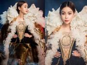 Thời trang - Hoa hậu Hải Dương gây choáng ngợp với bộ váy nữ hoàng nặng hàng chục kg