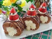 Bếp Eva - Làm bánh bông lan chocolate cuộn kem tươi cho Giáng sinh thêm ngọt ngào