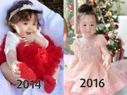 """Làm mẹ - Qua 3 mùa Noel, con gái """"vạn người mê"""" của Elly Trần đã thay đổi quá nhiều"""