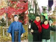 Nguyên Khang hạnh phúc bên mẹ trẻ đẹp tại Nhật Bản