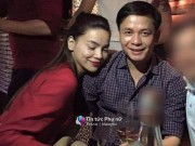 Làng sao - Lộ ảnh Hồ Ngọc Hà e ấp bên bạn trai đại gia Chu Đăng Khoa tại bàn tiệc