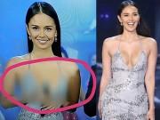 Mặc váy quá hở, Hoa hậu Thế giới bị che mờ phần ngực trên truyền hình Thái Lan