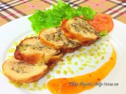 Bếp Eva - Gà cuộn cốm thơm ngon cho Tết Dương lịch