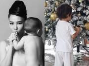 Làng sao - Con trai Thu Minh tóc xoăn đáng yêu, tự tay giúp mẹ dọn nhà