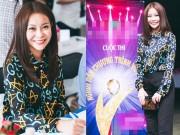 Sự kiện thời trang - Hoa hậu Hải Dương thanh lịch đi làm giám khảo