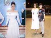 Làng sao - Phạm Hương xinh như công chúa, ngại ngùng khi được Nathan Lee ôm eo