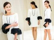 Thời trang - Hoa hậu Hải Dương xử trí khéo léo với gam màu trắng đen kinh điển