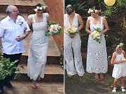 Chân dài Miranda Kerr bất ngờ làm phù dâu trong lễ cưới đồng tính của em trai