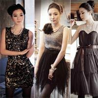 Váy điệu đà cho mùa tiệc tùng