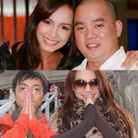 Những cặp chồng thấp vợ cao trong showbiz Việt