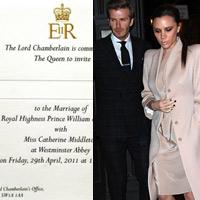 Vợ chồng Beckham được mời dự đám cưới Thái tử Anh