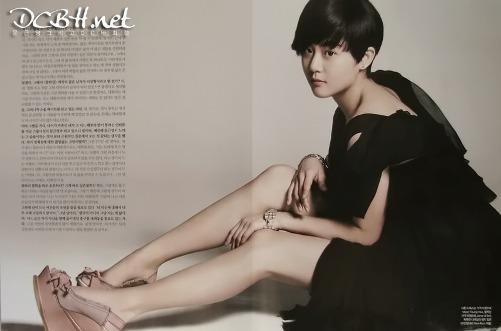 Moon Geun Young cá tính với tóc ngắn trên Bazaar - 9