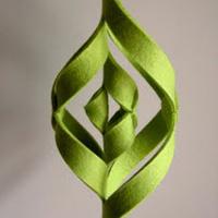Làm dây trang trí bằng vải nỉ