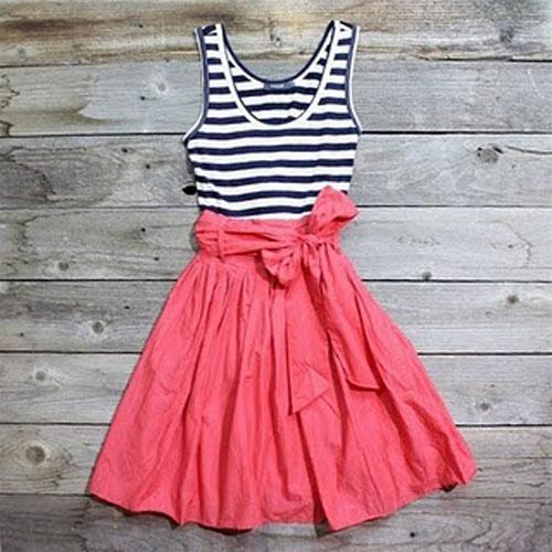 F5 áo phông thành váy xinh đón hè - 7