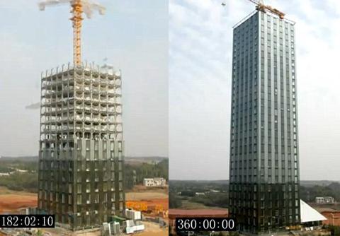 Sốc: Nhà 30 tầng xây gấp trong 360 giờ - 2