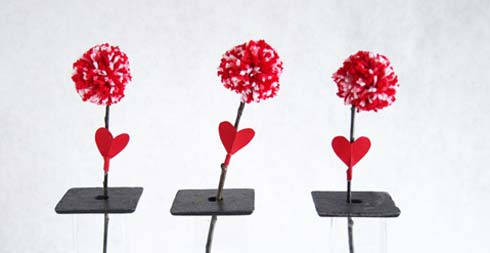 """Vuốt"" tim chàng bằng hoa len xinh xinh - 8"