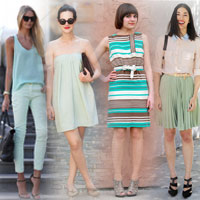 Xanh bạc hà: gam màu 'đáng mặc' nhất hè 2012