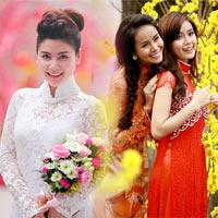 Áo dài ren - lựa chọn mới cho cô dâu Việt