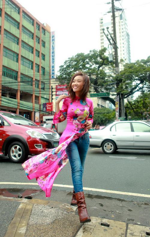 Đoan Trang: 'Tôi không biến dạng chiếc áo dài' - 1