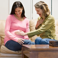 Học mẹ Khoai nhận biết dấu hiệu sinh nở