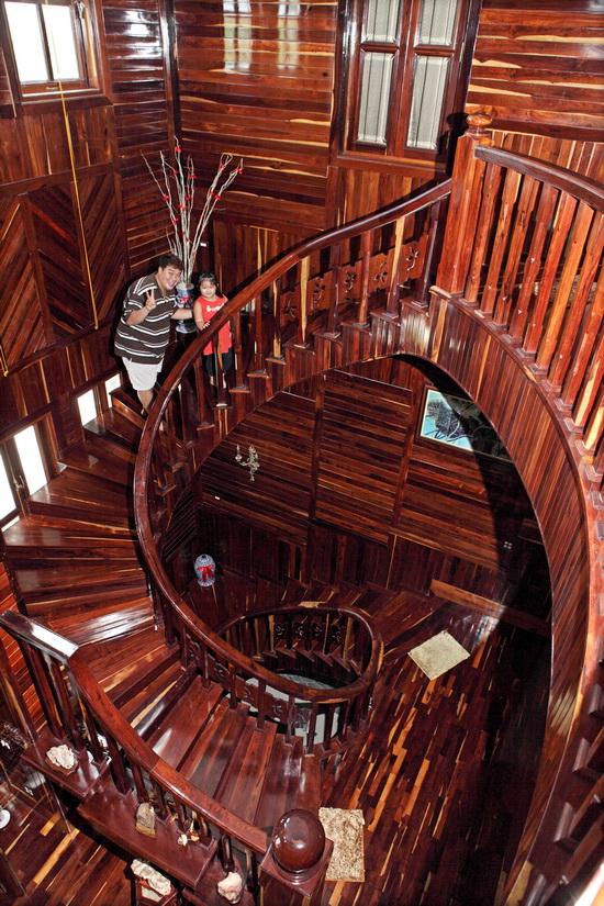 Choáng và... thèm biệt thự gỗ của Hoàng Mập - 7
