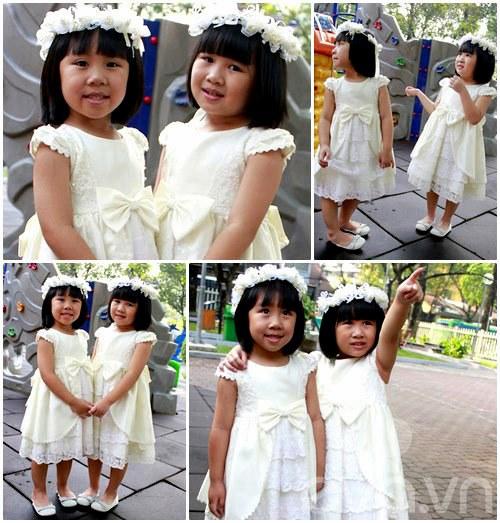 1357205002 sinhdoi2 Cặp đôi bé gái diện đầm đôi đẹp như thiên thần
