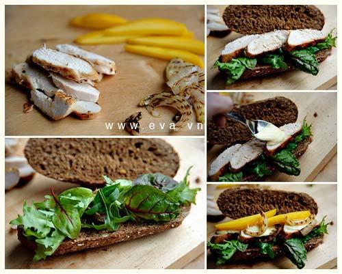 sandwich kep thit ga va xoai chin - 9
