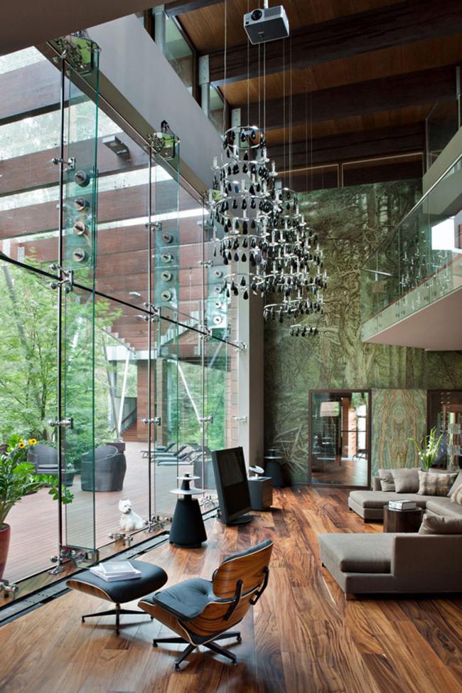 Ngôi biệt thự với toàn nội thất gỗ và da đẹp ngây ngất lòng người này là niềm mơ ước của biết bao người.