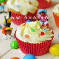Bếp Eva - Cupcake sặc sỡ dành cho bé