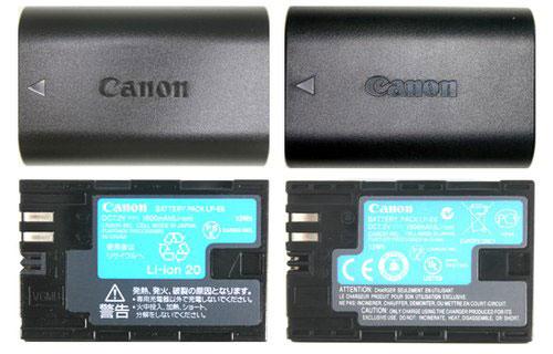Phân biệt pin máy ảnh Canon thật và giả-1