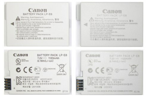 Phân biệt pin máy ảnh Canon thật và giả-4