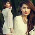 Thời trang - Lan Hương gợi cảm với sắc trắng tinh khiết