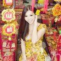 Thời trang - Bản sao Jennifer Phạm diện áo dài du Xuân
