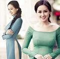 Làng sao - Nuột nà đường cong Mai Phương Thúy với áo dài