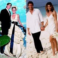 10 bộ váy cưới xấu xí nhất làng giải trí