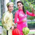 Làng sao - HH Ngọc Diễm rạng rỡ cùng Nguyên Khang