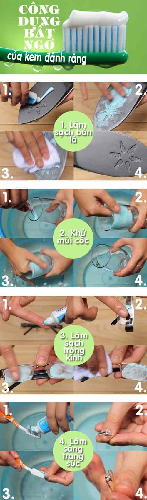 Mách bạn công dụng bất ngờ của kem đánh răng - 1